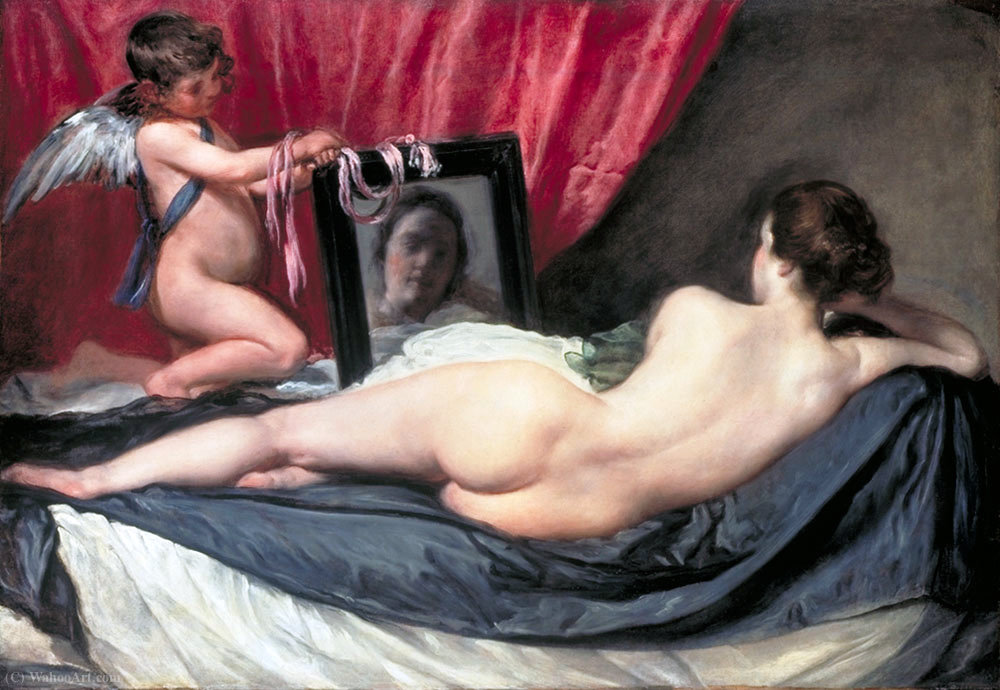 Wikioo.org - The Encyclopedia of Fine Arts - Painting, Artwork by Diego Velazquez - The Toilet of Venus (The Rokeby Venus)
