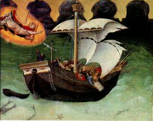 Quaratesi altarpiece storm tossed ship
