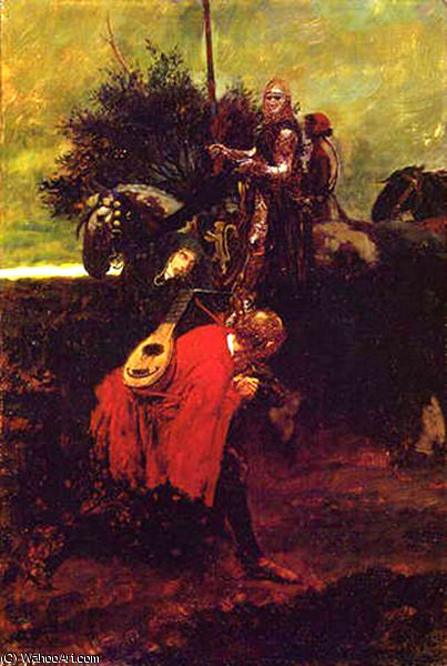 Wikioo.org - The Encyclopedia of Fine Arts - Painting, Artwork by Howard Pyle - In knighthood-s day