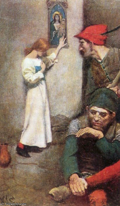 Wikioo.org - The Encyclopedia of Fine Arts - Painting, Artwork by Howard Pyle - Joan of Arc in Prison