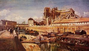 Notre Dame de Paris Seen from the Pont de L-Archeveche