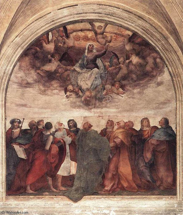 Wikioo.org - The Encyclopedia of Fine Arts - Painting, Artwork by Rosso Fiorentino - Assumption of the viorgin