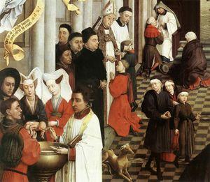 Seven Sacraments (left wing) detail