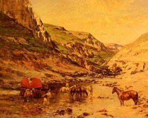 Wikioo.org - The Encyclopedia of Fine Arts - Artist, Painter  Victor Pierre Huguet