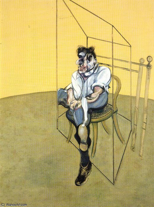 Wikioo.org - The Encyclopedia of Fine Arts - Painting, Artwork by Francis Bacon - Three Studies of Lucian Freud, right