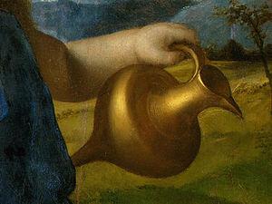 el bacchus bebé, probablemente Detalj - (2,)
