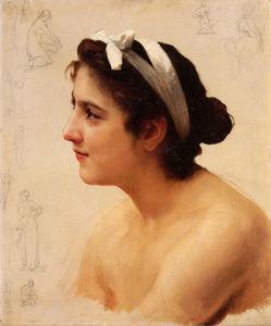 Bouguereau William Etude d-une femme pour Offrande a l - Amour