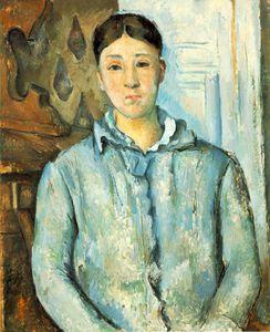 Madame cézanne en bleu,1886, the museum of fine arts