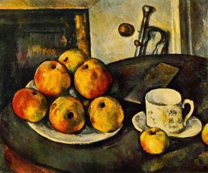 Still life with apples,1890-94, private,usa