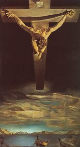 Dalí christ of st. john of the cross, oil on canvas, t