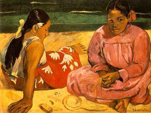 Femmes de Tahiti or Sur la plage, Mu
