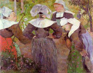 Four Breton Women, oil on canvas, Neue Pinakot