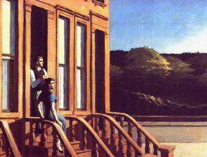 Sunlight on Brownstones , The Brooklyn Museum,
