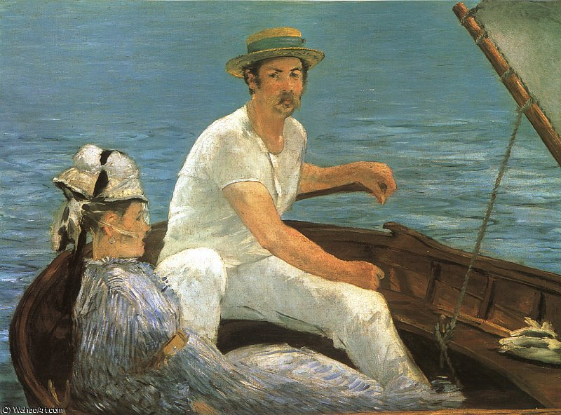 Wikioo.org - The Encyclopedia of Fine Arts - Painting, Artwork by Edouard Manet - Boating, Metropolitan Museum of Art, New York