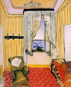My Room at the Beau-Rivage, oil on canvas, Phi
