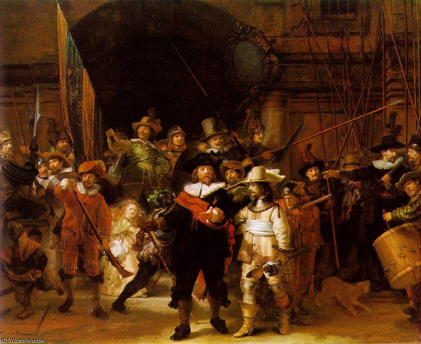 Wikioo.org - The Encyclopedia of Fine Arts - Painting, Artwork by Rembrandt Van Rijn - The nightwatch