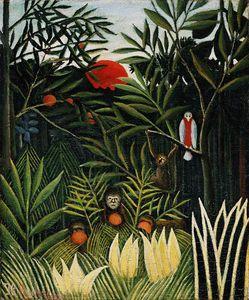 Landscape with monkeys, ca Barnes foundati