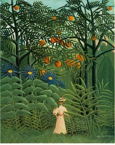 Woman Walking in an Exotic Forest (Femme se prom