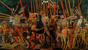 The battle of san romano - the counter-attack by mich