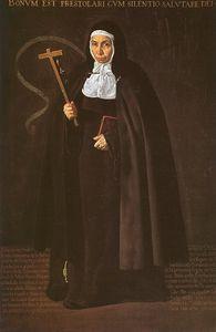 Mother Jerónima de la Fuente, oil on canvas,