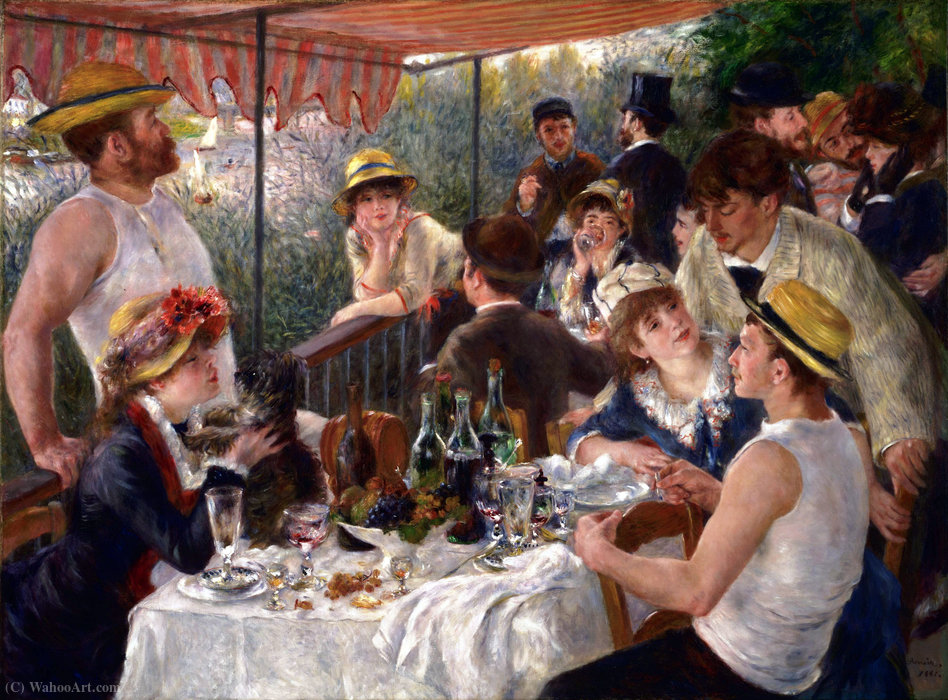 Wikioo.org - The Encyclopedia of Fine Arts - Painting, Artwork by Pierre-Auguste Renoir - Luncheon of the Boating Party