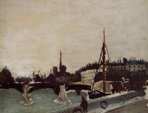 Notre Dame - View of the Ile Saint-Louis (Study)