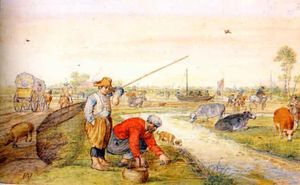 Fisherman at a Ditch