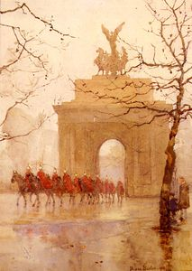 Hyde park corner, with household cavalry
