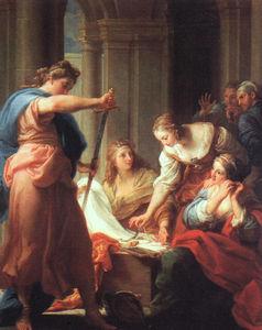 Aquiles en la corte de Lycomedes