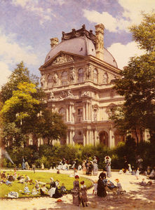 The Gardens of the Carrousel and the Richelieu Pavillion in