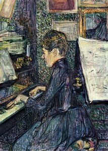 Mademoiselle Dihau Playing the Piano
