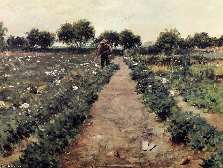 Wikioo.org - The Encyclopedia of Fine Arts - Painting, Artwork by William Merritt Chase - The potato patch