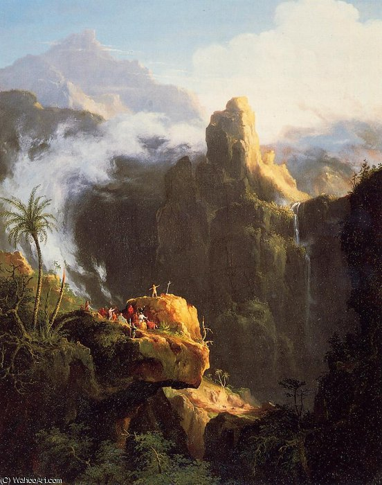 Wikioo.org - The Encyclopedia of Fine Arts - Painting, Artwork by Thomas Cole - Saint John in the Wilderness