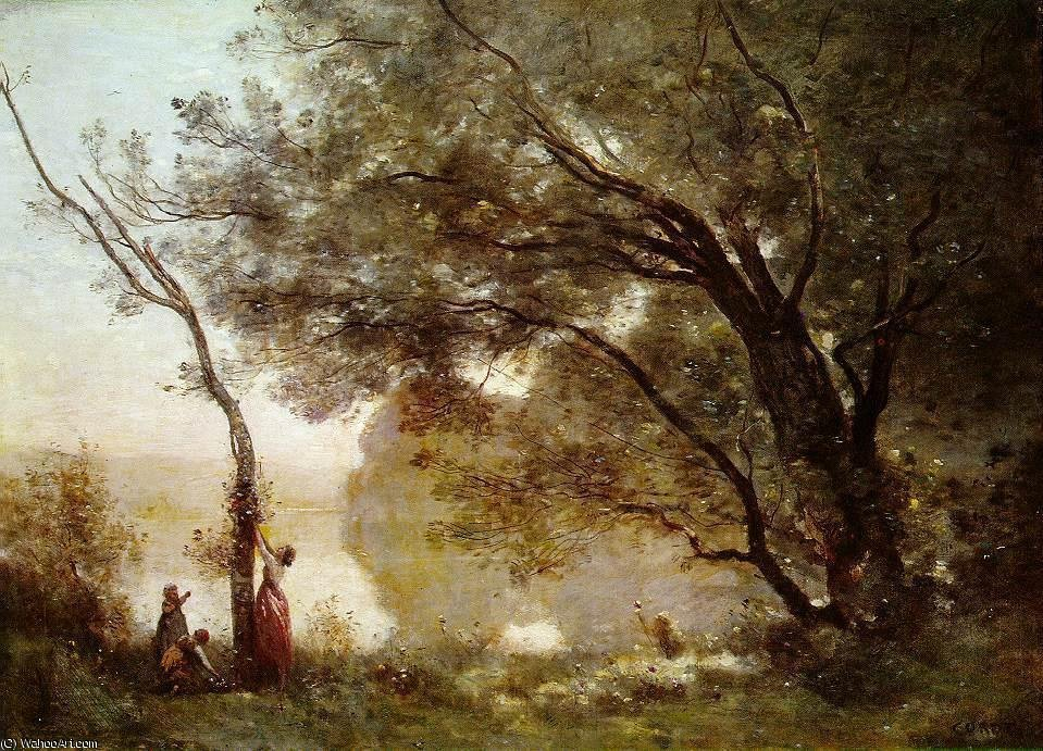 Wikioo.org - The Encyclopedia of Fine Arts - Painting, Artwork by Jean Baptiste Camille Corot - Souvenir of Montefontaine