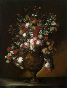 Life of Flowers in a Gilded Vase