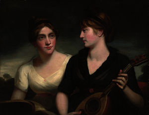 A double portrait of sisters, half-length
