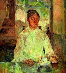 Contessa Adéle de Toulouse-Lautrec Having Breakfast