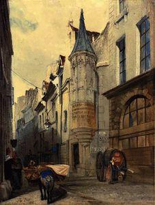 Maison de l'amiral coligny, rue bailleul, paris, france