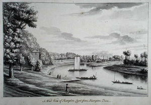 A West View of Hampton Court Ferry and Hampton