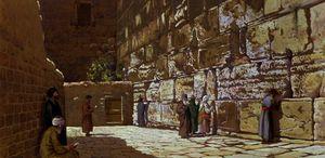 The Wailing Wall, in Jerusalem