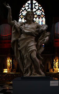 Belgium), Saint Paul's Cathedral, John the Baptist (wood) by Jean Del Cour
