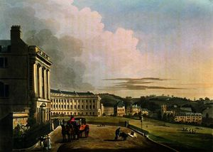 The Crescent, from 'Bath Illustrated