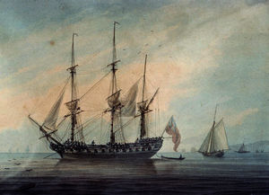 Seascape with a Frigate