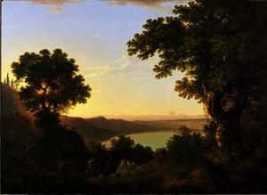 Lake albano, italy,