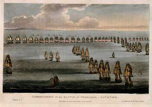 Commencement of the Battle of Trafalgar