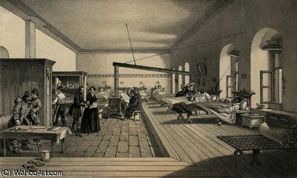 WikiOO.org - Encyclopedia of Fine Arts - Schilderen, Artwork William Simpson - One of the wards of the hospital at Scutari