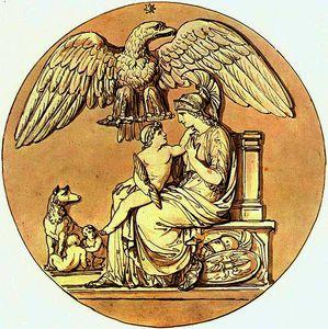 La diosa Roma y el Rey de Roma