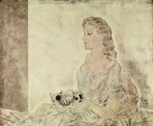 Femme au petit chat