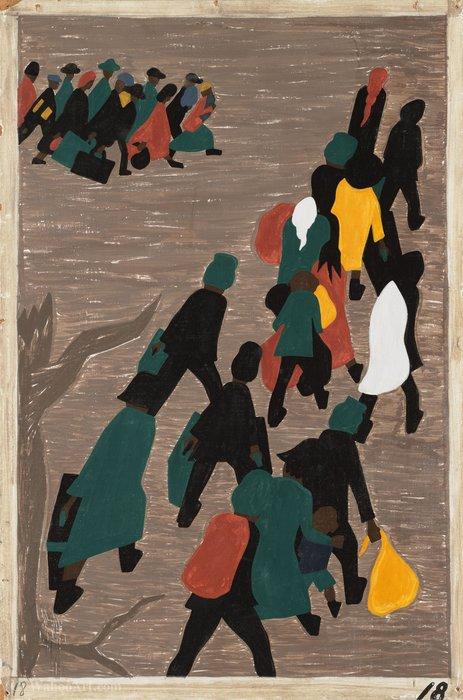 Wikioo.org – L'Enciclopedia delle Belle Arti - Pittura, Opere di Jacob Lawrence - La migrazione ha guadagnato in moto