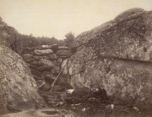 Home of a Rebel Sharpshooter, Gettysburg from Gardner's Photographic Sketchbook of the War,